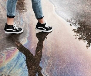 rainbow, vans, and tumblr image