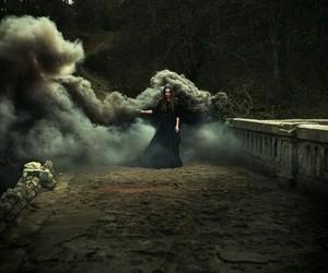 witch, magic, and smoke image