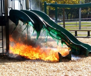 fire and slide image