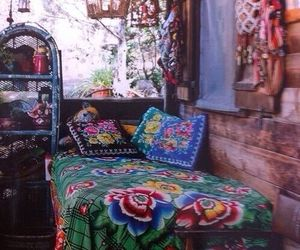 bedroom, hippie, and bohemian image