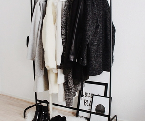 clothes, clothing rack, and fashion image
