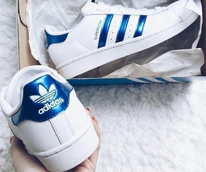 adidas, superstar, and blue image