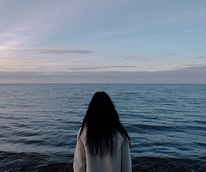 girl, ocean, and sea image