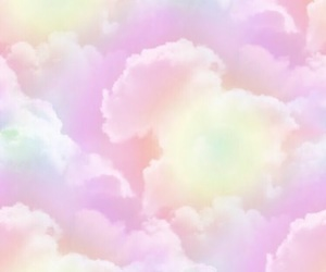 clouds, pastel, and pink image