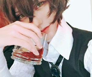 cosplay, dazai osamu, and bungou stray dogs image