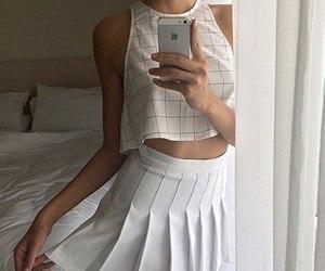 fashion, топ, and белый image