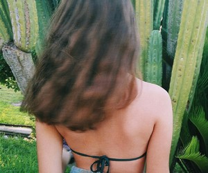 cactus, hair, and hapiness image