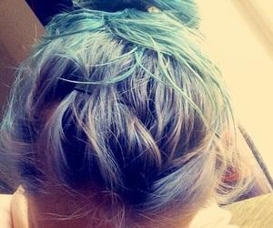 bluehair, mermaid, and purplehair image