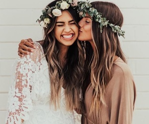 friends, girls, and wedding image