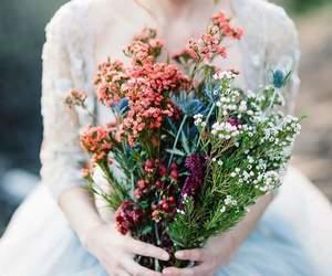 beautiful, flower, and dress image