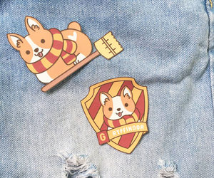 harry potter, cute pin, and iron on patch image