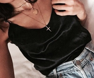 accesories, jeans, and tanned toned body image