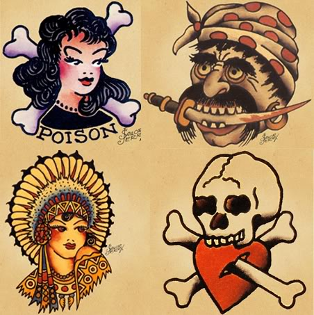 Tatuagem Old School De Sailor Jerry Nathycombr