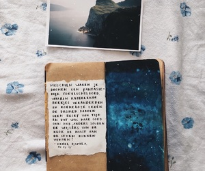 art, art journal, and blue image