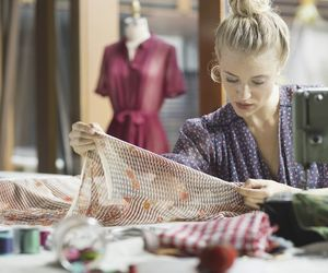 cloths, fashion design, and sewing image