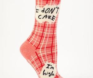 high, don'tcare, and socks image