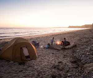 beach, camping, and friends image