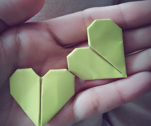 heart, origami, and love image