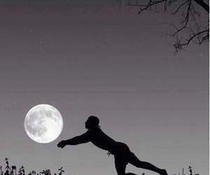 moon, night, and volley image