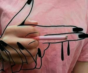 pink, tumblr, and black image