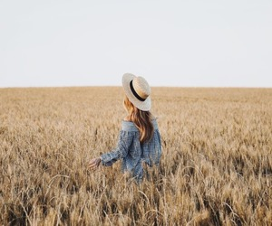 girl, travel, and field image