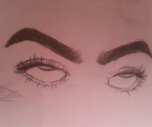 draw, eyebrows, and eyes image
