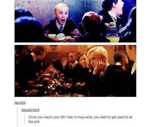 harry potter, hogwarts, and draco malfoy image