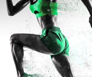green, health, and running image