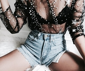 bra, fashion, and shorts image