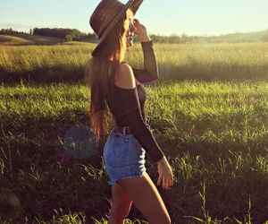 country, girl, and long hair image