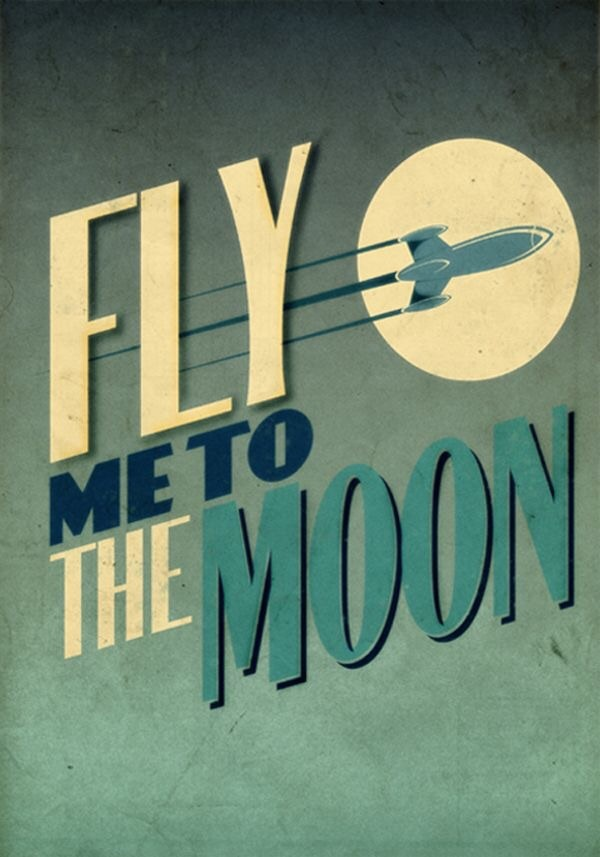 fly, moon, and vintage image
