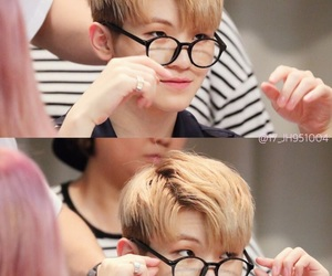 glasses, kpop, and Seventeen image