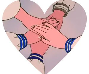 sailor moon and heart image
