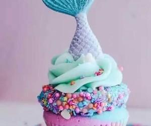 cupcake, mermaid, and food image