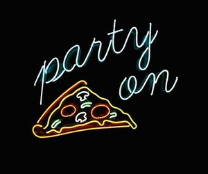 wallpaper, pizza, and black image