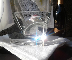 glass, light, and rose image