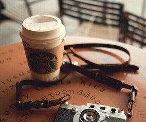 camera, starbucks, and coffee image