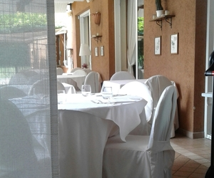 restaurant, white, and table image