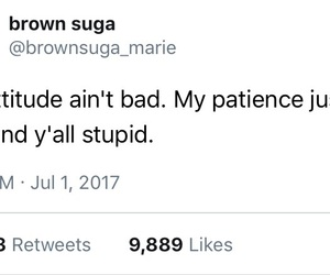 attitude, twitter, and real shit image