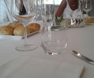 bread, glasses, and restaurant image