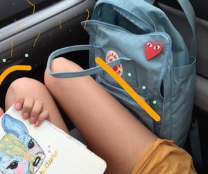 backpack, fjallraven kanken, and legs image