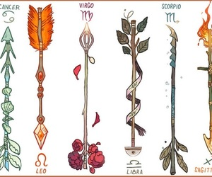 zodiac, arrows, and drawing image