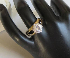 engagement, vintage, and cubic zirconia image