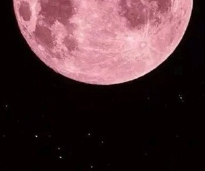 pink, moon, and wallpaper image