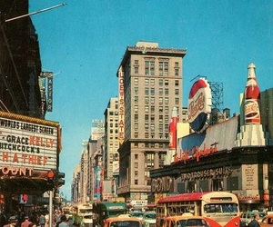 city, vintage, and 50s image
