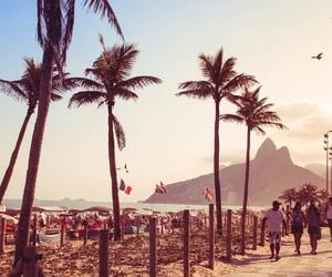 beach, brazil, and copacabana image