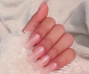 baby pink, light pink, and nail art image