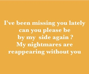 missing, nightmares, and quotations image