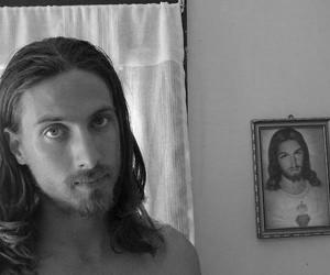 art, boy, and jesus christ image