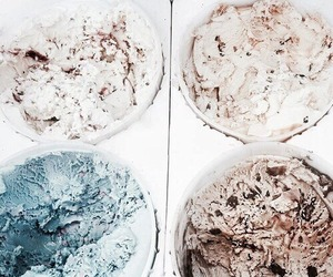 ice cream, theme, and blue image